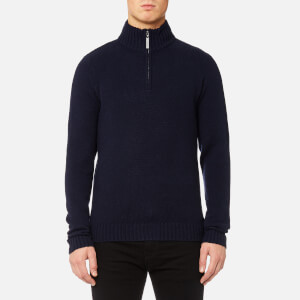 MUSTO Men's Phoenix 1/2 Zip Neck Knitted Jumper - True Navy
