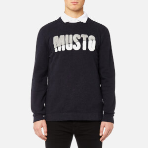 MUSTO Men's Warne Crew Sweatshirt - True Navy Marl