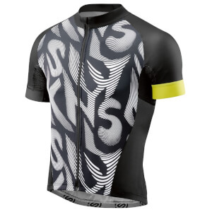 Skins Cycle Men's Classic Jersey - Black/Citron