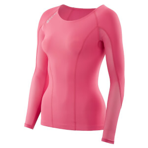 Skins Women's DNAmic Long Sleeved Top - Pink