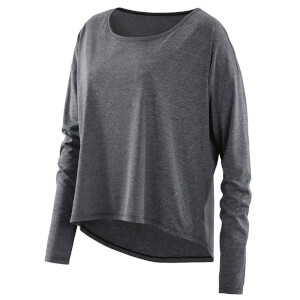 Skins Activewear Women's Pixel Long Sleeve Top - Black Marle