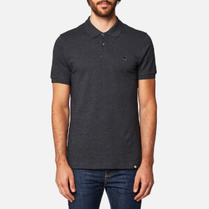 Pretty Green Men's Hartford Short Sleeve Polo Shirt - Dark Grey Marl