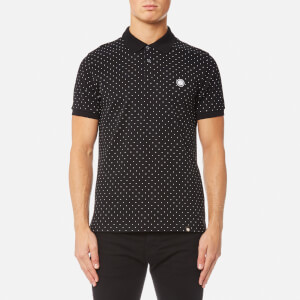 Pretty Green Men's Kompany Short Sleeve Polka Dot Polo Shirt - Black