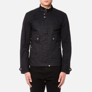 Pretty Green Men's Garrat Waxed Jacket - Navy