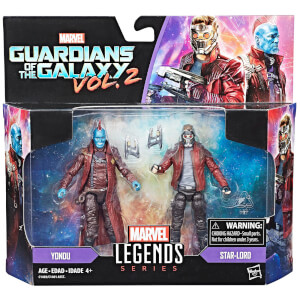 Figurines Star Lord et Youndu Hasbro Marvel Legends Series (Lot de 2)