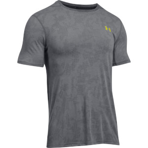 Under Armour Men's Elite Fitted T-Shirt - Grey/Yellow