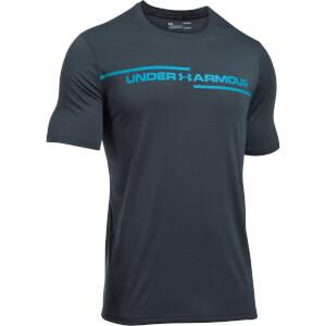 Under Armour Men's Threadborne Cross Chest T-Shirt - Grey/Blue