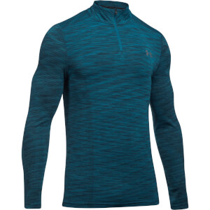 Under Armour Men's Threadborne Seamless 1/4 Zip Fleece - Blue