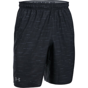 Under Armour Men's Qualifier Printed Shorts - Black