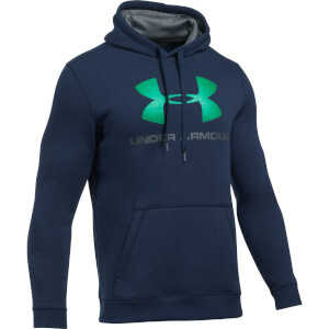 Under Armour Men's Rival Fitted Graphic Hoody - Navy