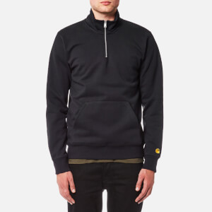 Carhartt Men's Chase Neck Zip Sweatshirt - Dark Navy/Gold