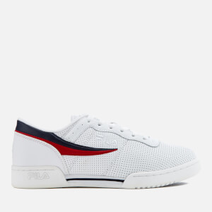 FILA Men's Original Fitness Perforated Trainers - White/FILA Navy/FILA Red