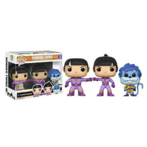 SDCC 17 Heroes Wonder Twins Zan, Jayna and Gleek Pop! Vinyl Figure 3 Pack
