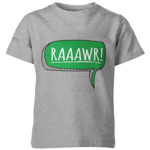 Dinosaur Rawr! Kids Grey T-Shirt