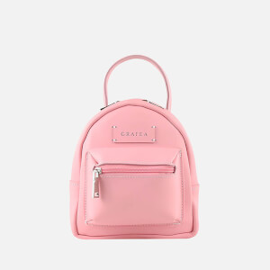 Grafea Women's Mini Zippy Pink Backpack - Pink