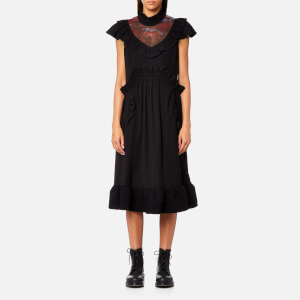 Coach Women's Sleeveless Ruffle Dress - Black