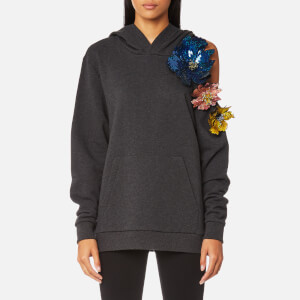 Christopher Kane Women's Cut Out Flower Hoody - Grey