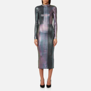 Christopher Kane Women's Long Foil Dress - Silver