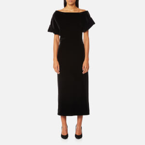 Christopher Kane Women's Stretch Velvet Dress - Black