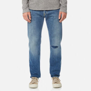 Edwin Men's ED-80 Slim Tapered Rainbow Selvedge Jeans - Meadow Wash
