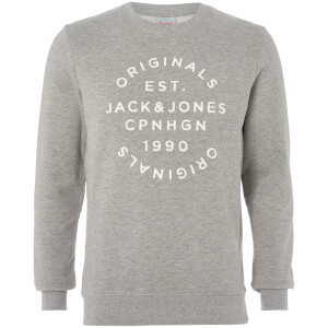 Jack & Jones Originals Men's Soft Neo Sweatshirt - Light Grey Marl