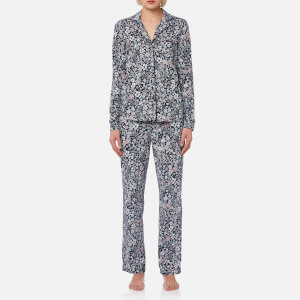 Joules Women's Astrid Printed Jersey Pyjama Set - French Navy Ria Ditsy