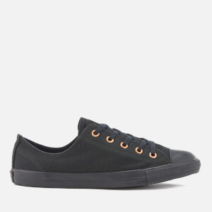 Converse Women's Chuck Taylor All Star Dainty Ox Trainers - Black/Black/Gold