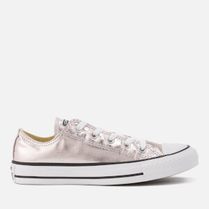 Converse Women's Chuck Taylor All Star Metallic Canvas Ox Trainers - Rose Quartz/White/Black