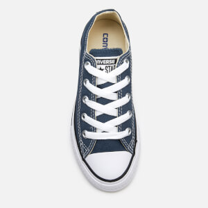 Converse Kids Chuck Taylor All Star Ox Trainers - Navy: Image 3