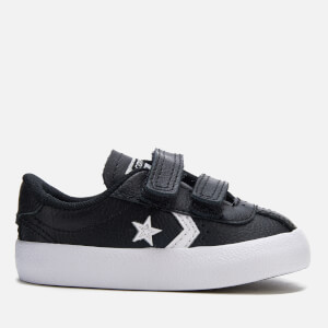 Converse Toddlers' Breakpoint 2V Leather Ox Trainers - Black/White/Black
