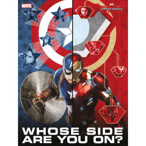 Captain America Civil War Glass Poster - Whose Side Are You On (30 x 40cm)