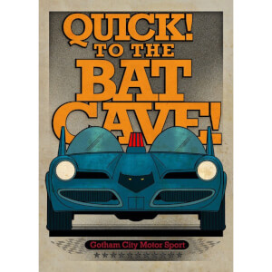 DC Comics Metal Poster - Gotham City Motor Club Batmobile 1966 (32 x 45cm)