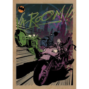 Affiche en Métal DC Comics Gotham City Motor Club Gotham City MC (32 x 45cm)