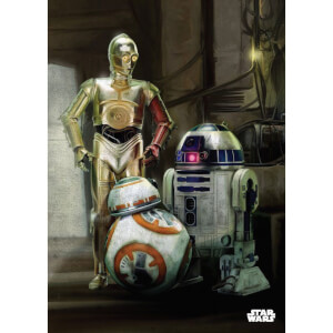 Star Wars Metal Poster - Episode VII Droids (68 x 48cm)