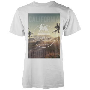 Native Shore Men's California Original Palm Graphic T-Shirt - White