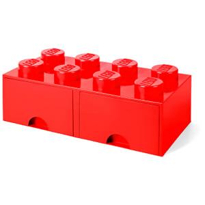 LEGO Brique de Rangement 8 Tenons - Rouge