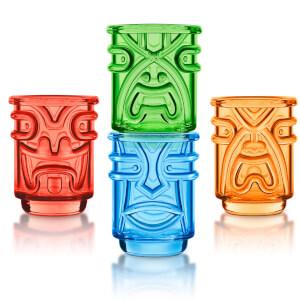 Tiki Shot Glasses (Set of 4) - Coloured