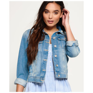 Superdry Women's Girlfriend Denim Jacket - Light Blue