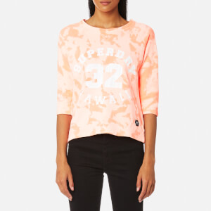 Superdry Women's Washed Crop Crew Sweatshirt - Bird of Paradise Coral