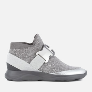 Christopher Kane Women's No Toe Edge Hi-Top Trainers - Grey/Silver