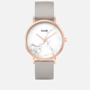 Cluse Women's La Roche Marble Leather Watch - Grey
