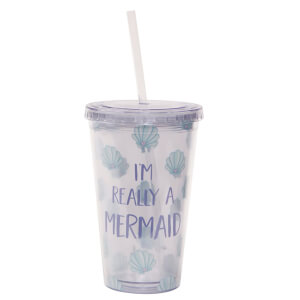 Sass & Belle Mermaid Treasures Drinks Cup with Straw