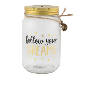 Sass & Belle Follow Your Dreams Jar Money Box