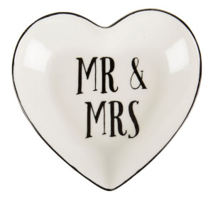 Sass & Belle Mr & Mrs Heart Jewellery Dish