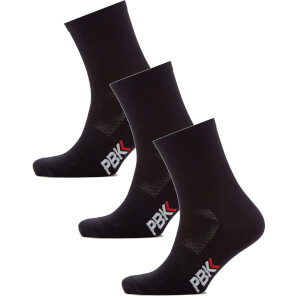PBK Lightweight Socks Multipack - 3 Pairs - Black