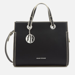 Armani Exchange Women's Structured Tote Bag - Black