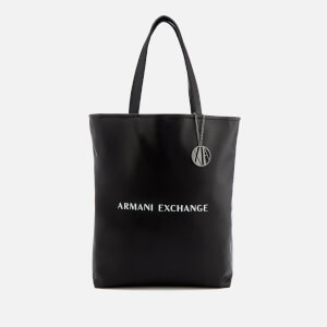 Armani Exchange Women's Reversible Shopping Bag - Black/White