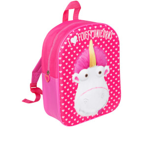 Minions Fluffy Unicorn EVA Backpack - Pink