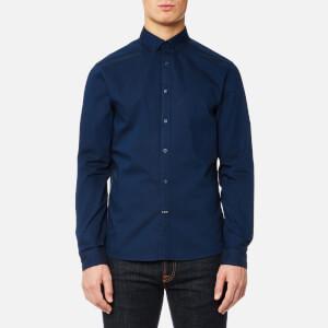 Calvin Klein Men's Gallen Washed Oxford Shirt - Ink Blue