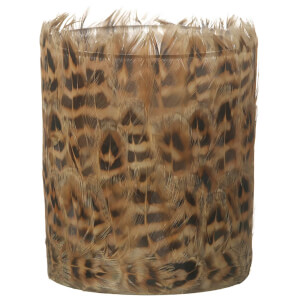 Parlane Feather Tealight Holder (10 x 8cm) - Brown from I Want One Of Those